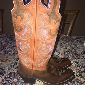 Tony Lama 3R Buckaroo leather boots